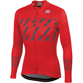 Sportful Tec-Trix LS Jersey Men red/anthracite